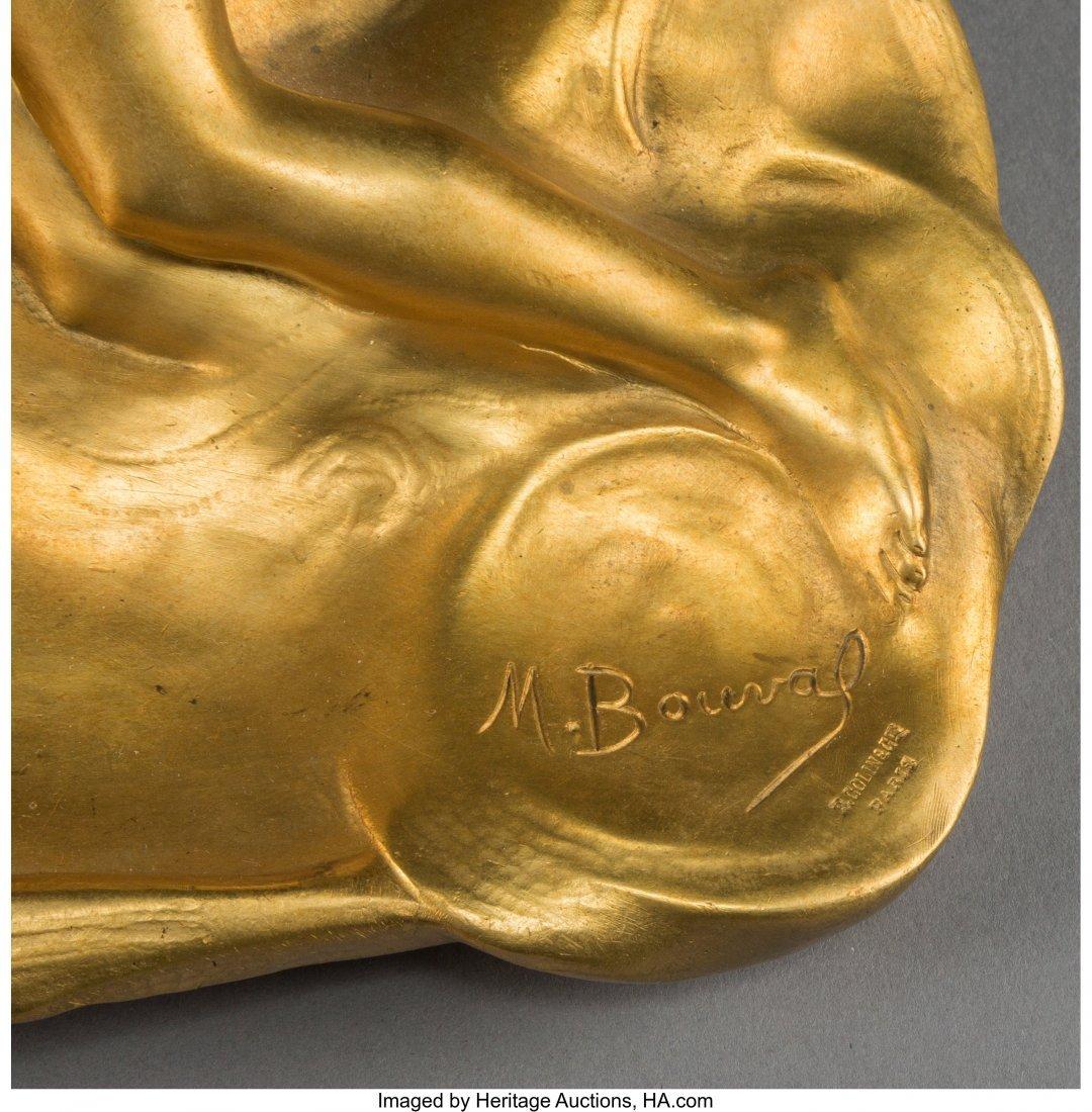 63082: A Maurice Bouval Art Nouveau Gilt Bronze Figural - 4