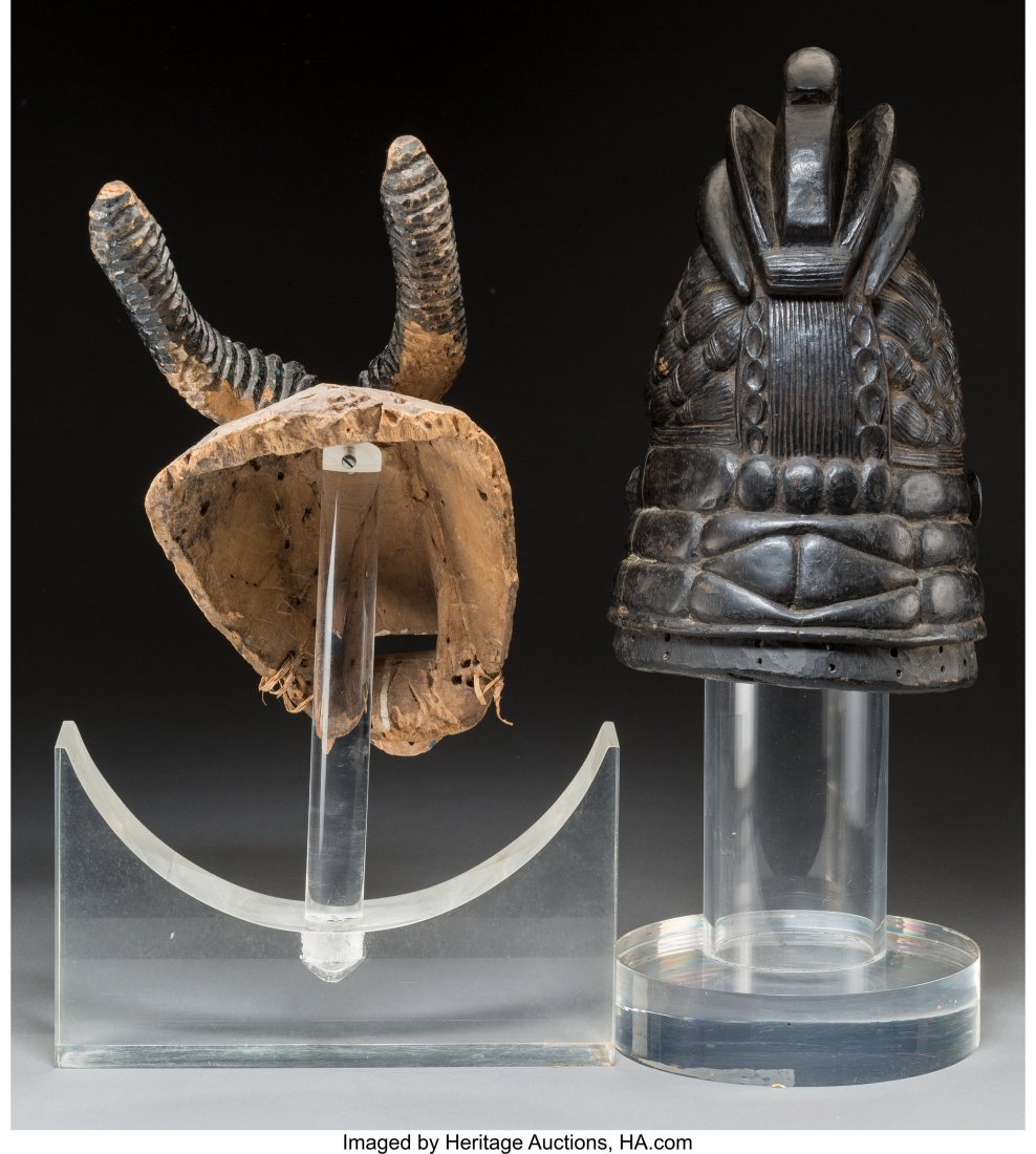 63036: Two African Carved and Polychromed Wood Figural  - 2