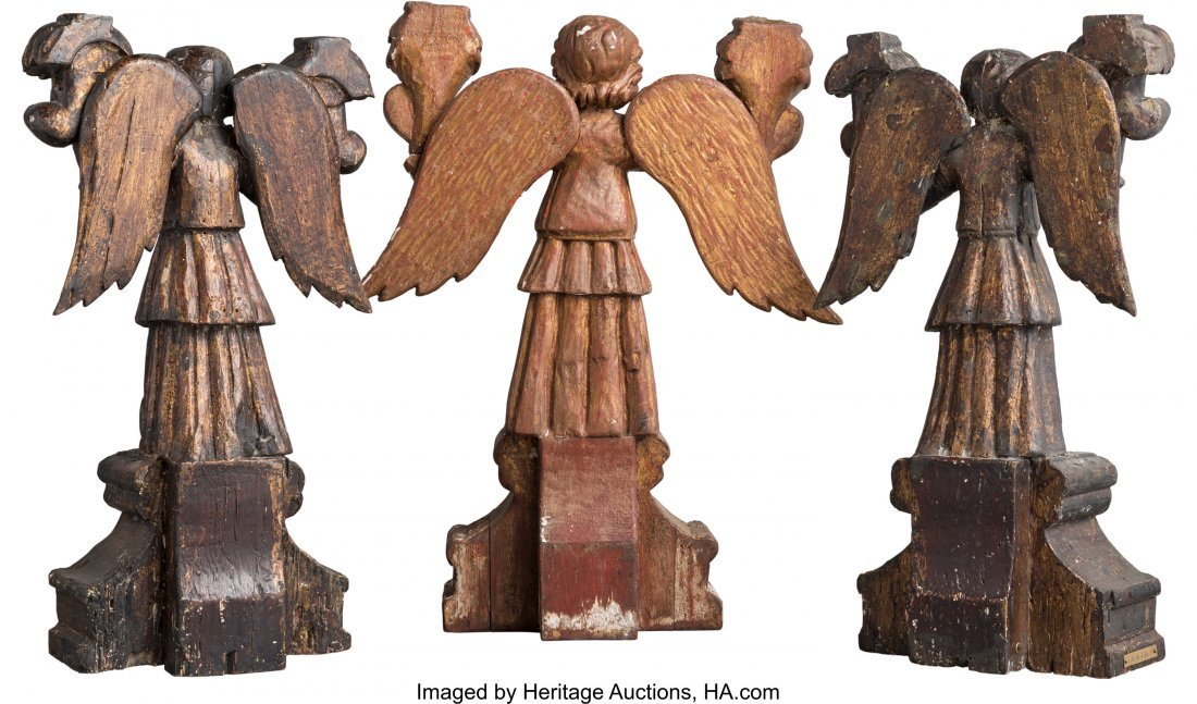 63041: Three Spanish Colonial Carved, Painted, and Gilt - 2