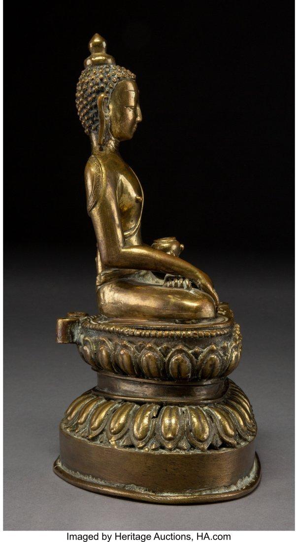 63251: A Chinese Gilt Bronze Seated Buddha Figure 10-1/ - 2