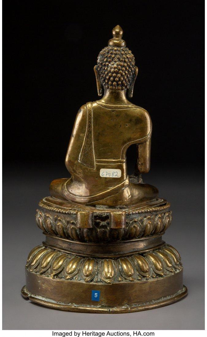 63251: A Chinese Gilt Bronze Seated Buddha Figure 10-1/ - 3