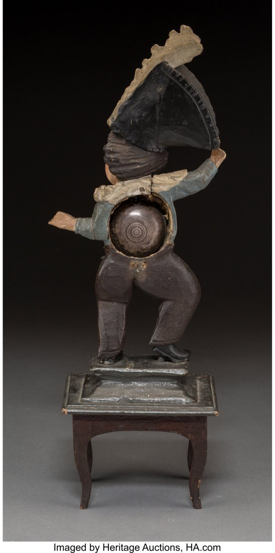 63058: A Carved Wood Figural Town Crier Clock, 19th cen - 2