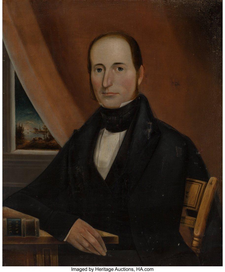 63071: American School (19th Century) Portrait of an Oh