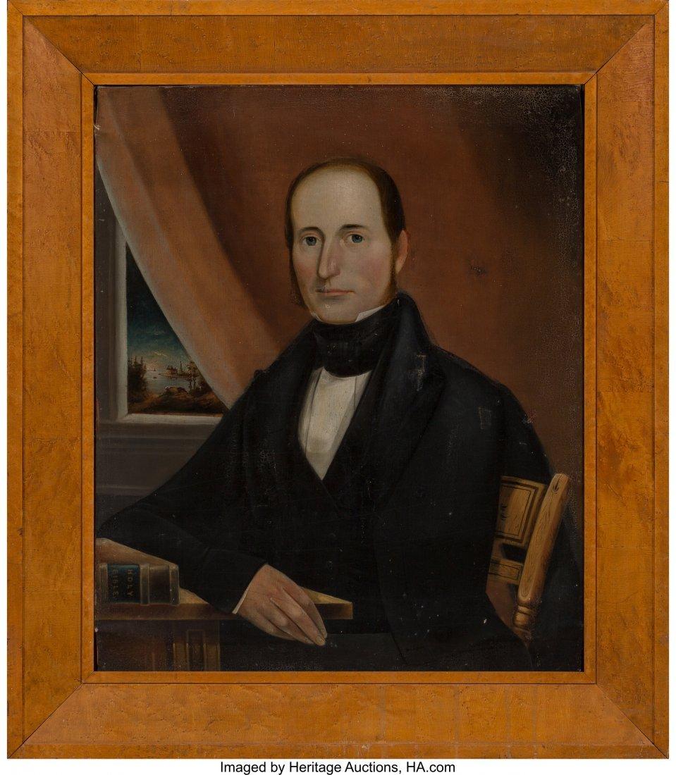 63071: American School (19th Century) Portrait of an Oh - 2