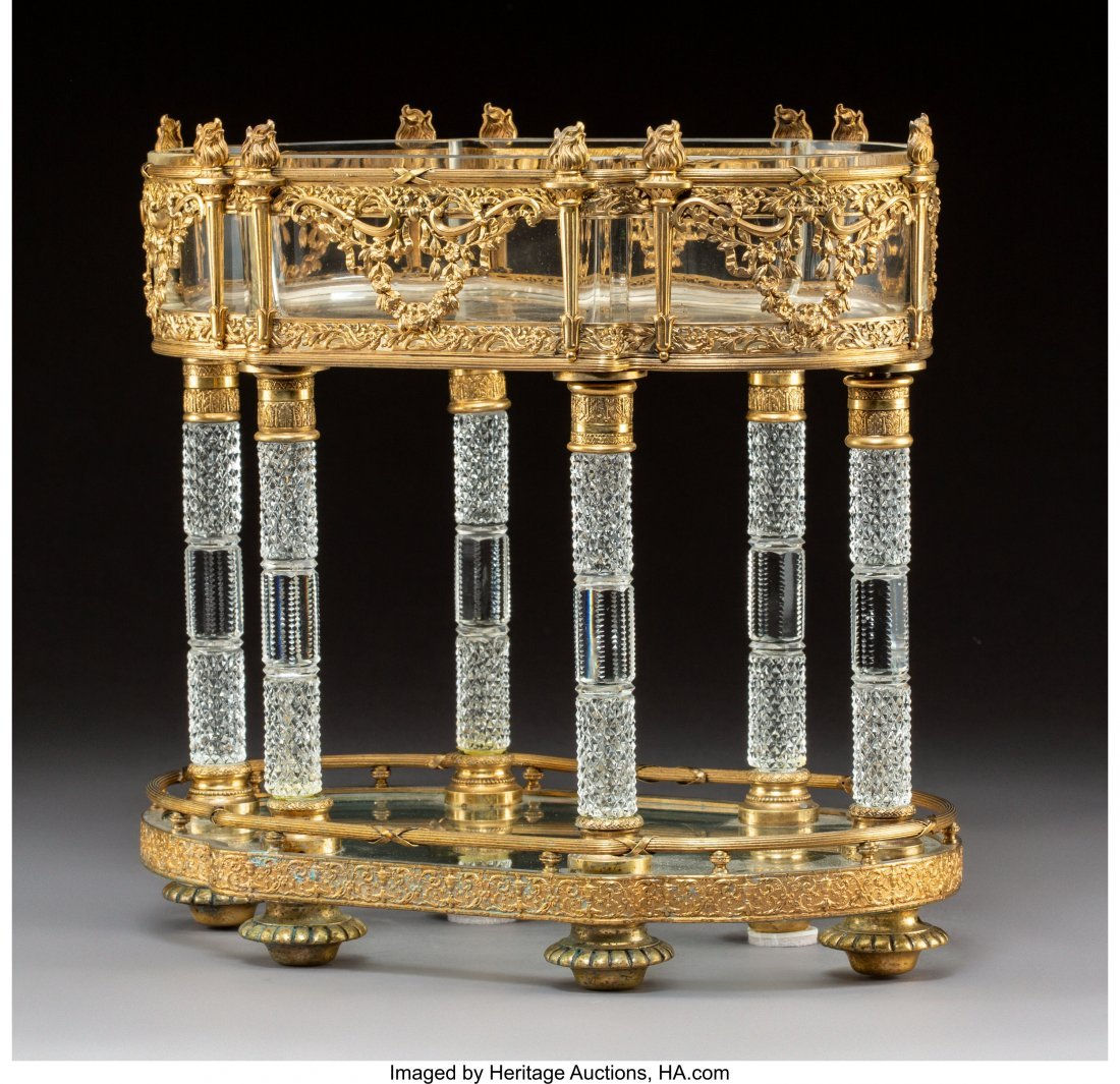 63331: A Baccarat Empire-Style Gilt Bronze-Mounted Crys