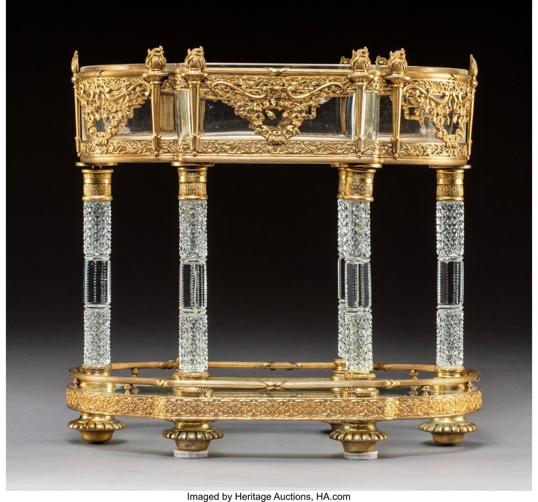 63331: A Baccarat Empire-Style Gilt Bronze-Mounted Crys - 2