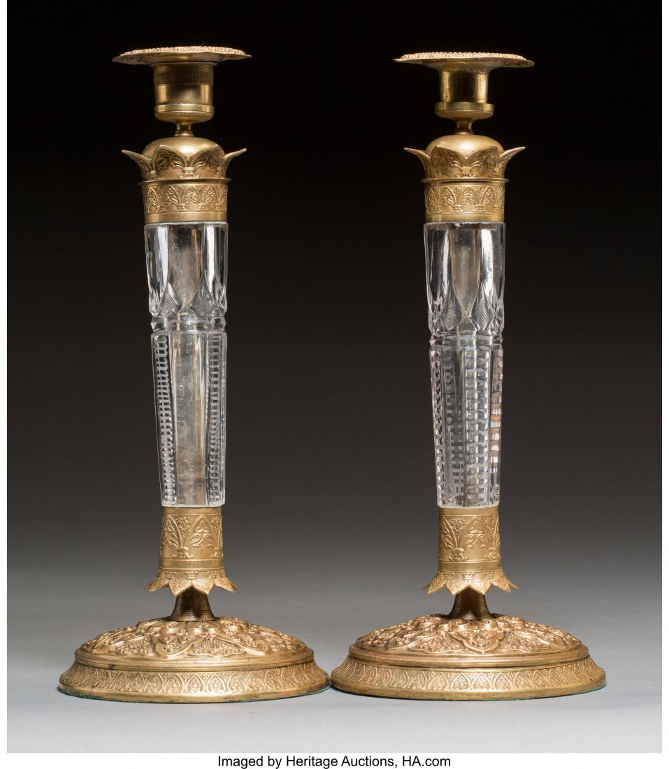 63335: A Pair of Charles X-Style Gilt Bronze-Mounted Cu