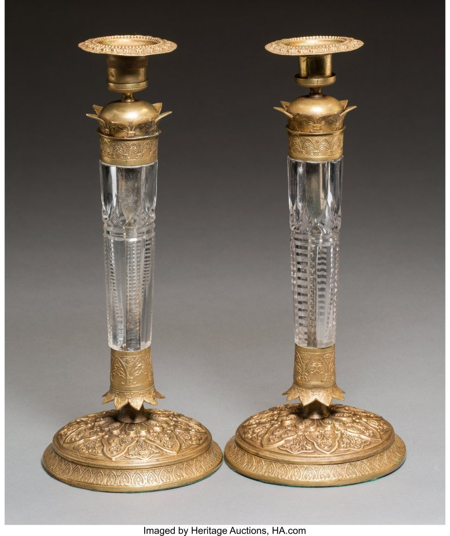 63335: A Pair of Charles X-Style Gilt Bronze-Mounted Cu - 2