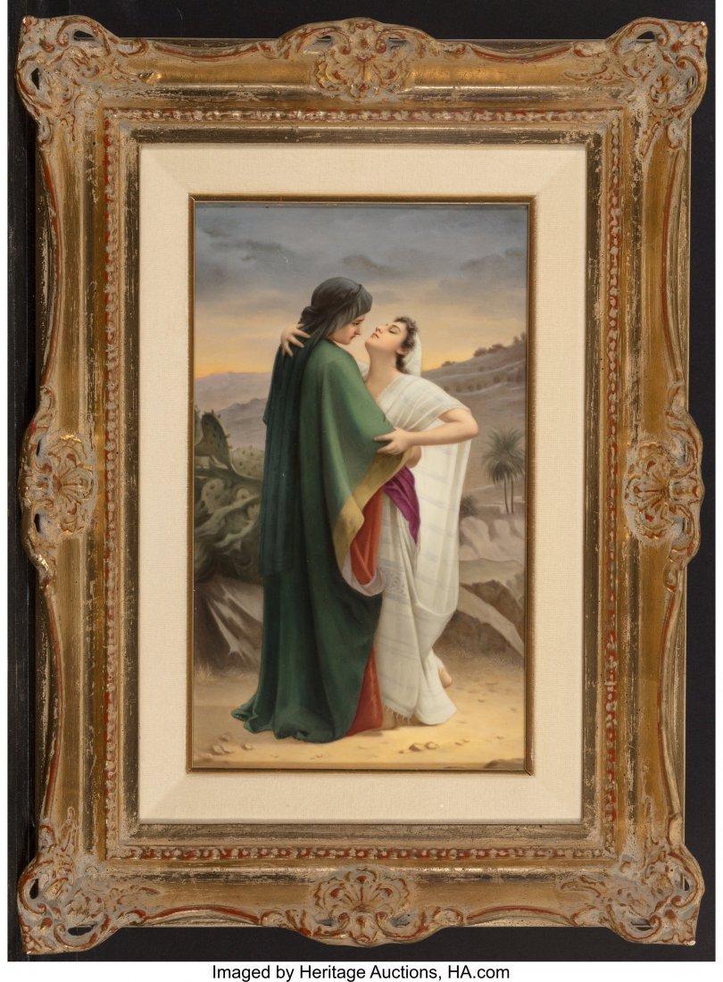 63411: A KPM Porcelain Plaque Depicting Isaac and Rebec - 2