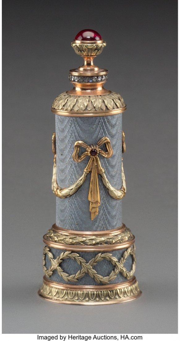 63397: A 14K Vari-Color Gold, Silver, Diamond, Guilloch