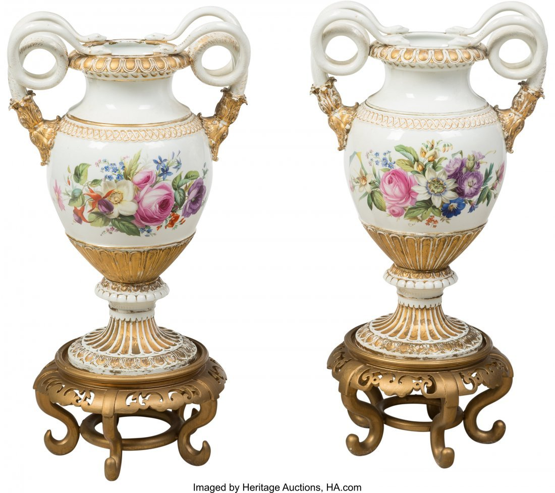 63434: A Pair of Meissen Polychromed and Gilt Porcelain - 2