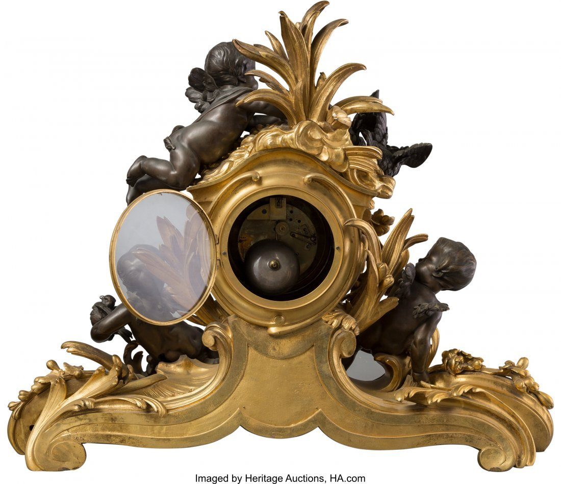 63440: A Large Victor Paillard Louis XV-Style Gilt and  - 2