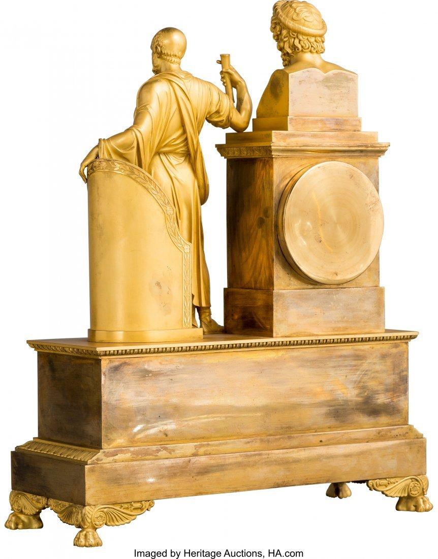 63443: A Fine French Empire Gilt Bronze Classical Mante - 2