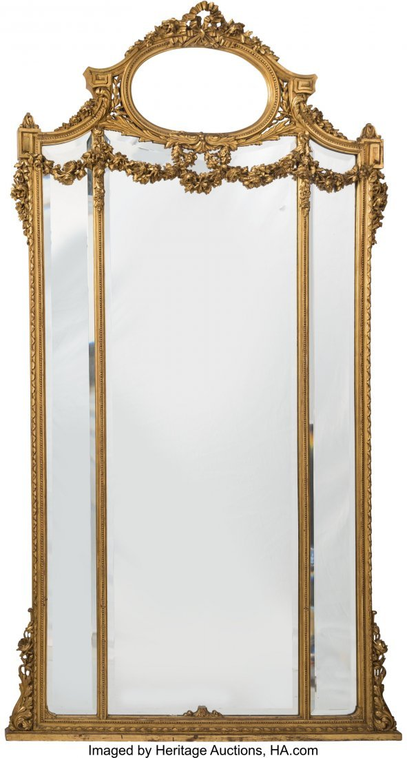 63497: A Monumental Fin de Siecle Carved and Giltwood M