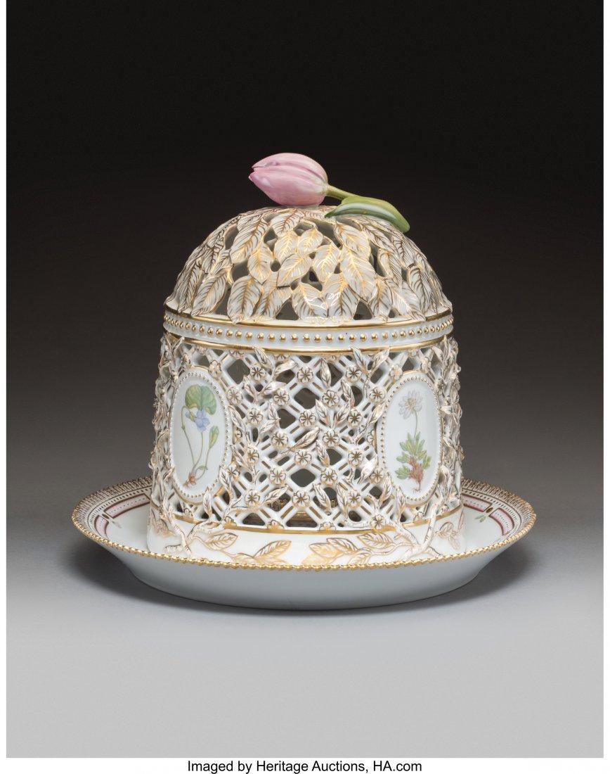 63445: A Royal Copenhagen Flora Danica Pattern Porcelai