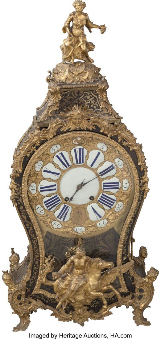 63587: A Large Louis XV-Style Gilt Bronze and Boulle La