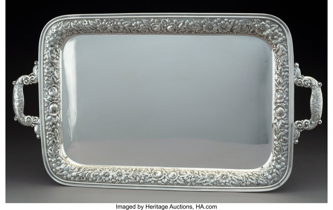 63514: A Manchester Silver Co. Silver Two-Handled Tray,