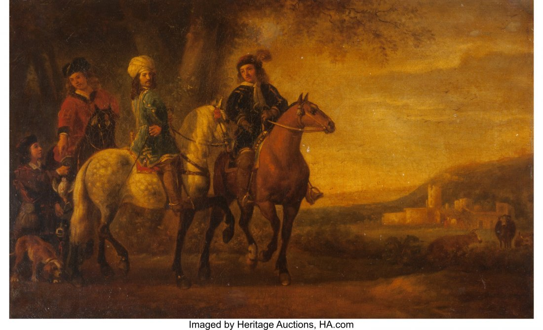 63684: After Aelbert Cuyp  Landscape with Three Riders,