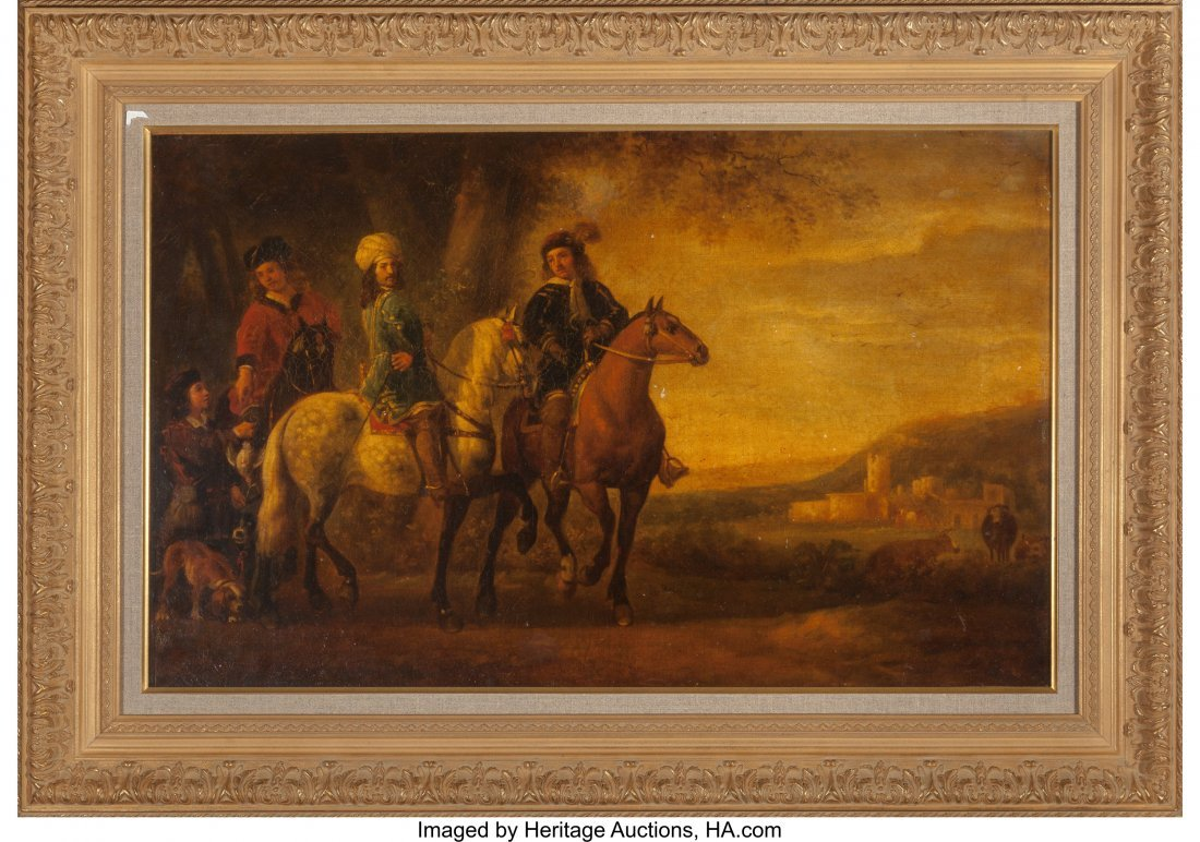 63684: After Aelbert Cuyp  Landscape with Three Riders, - 3