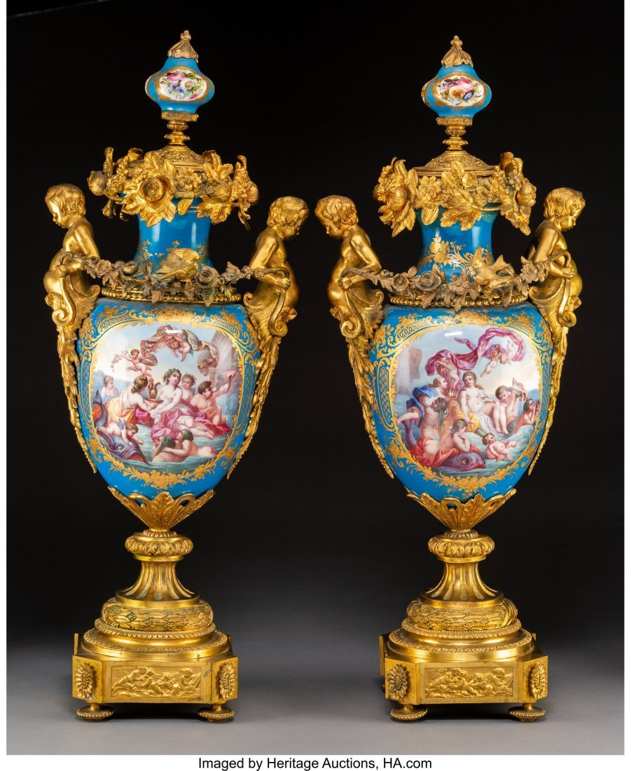63532: A Pair of Monumental Sèvres-Style Napoleon III