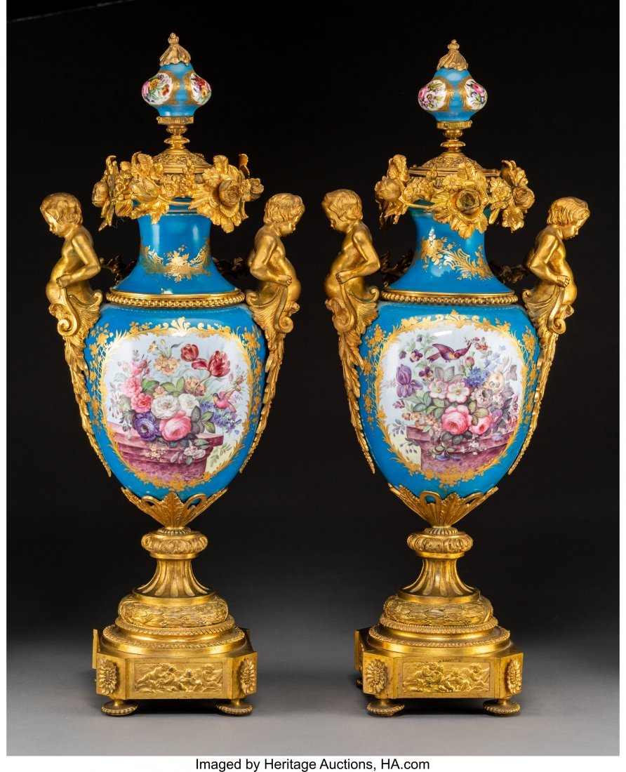 63532: A Pair of Monumental Sèvres-Style Napoleon III  - 2
