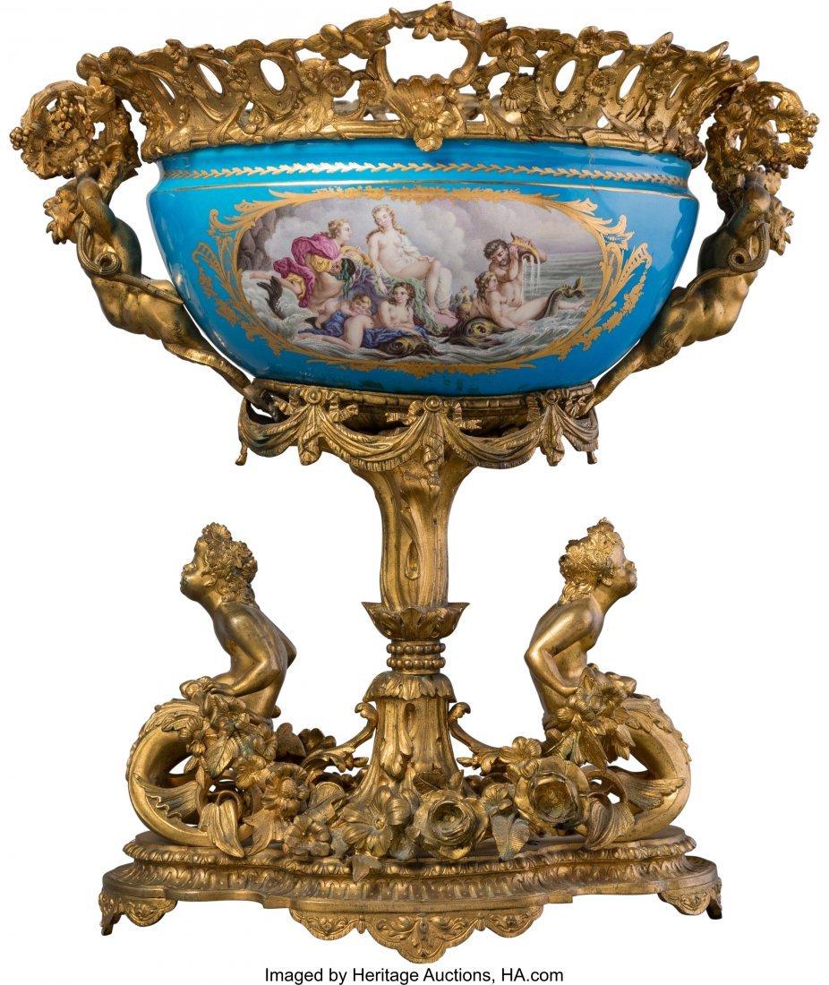 63535: A Sèvres-Style Porcelain Center Piece Bowl with