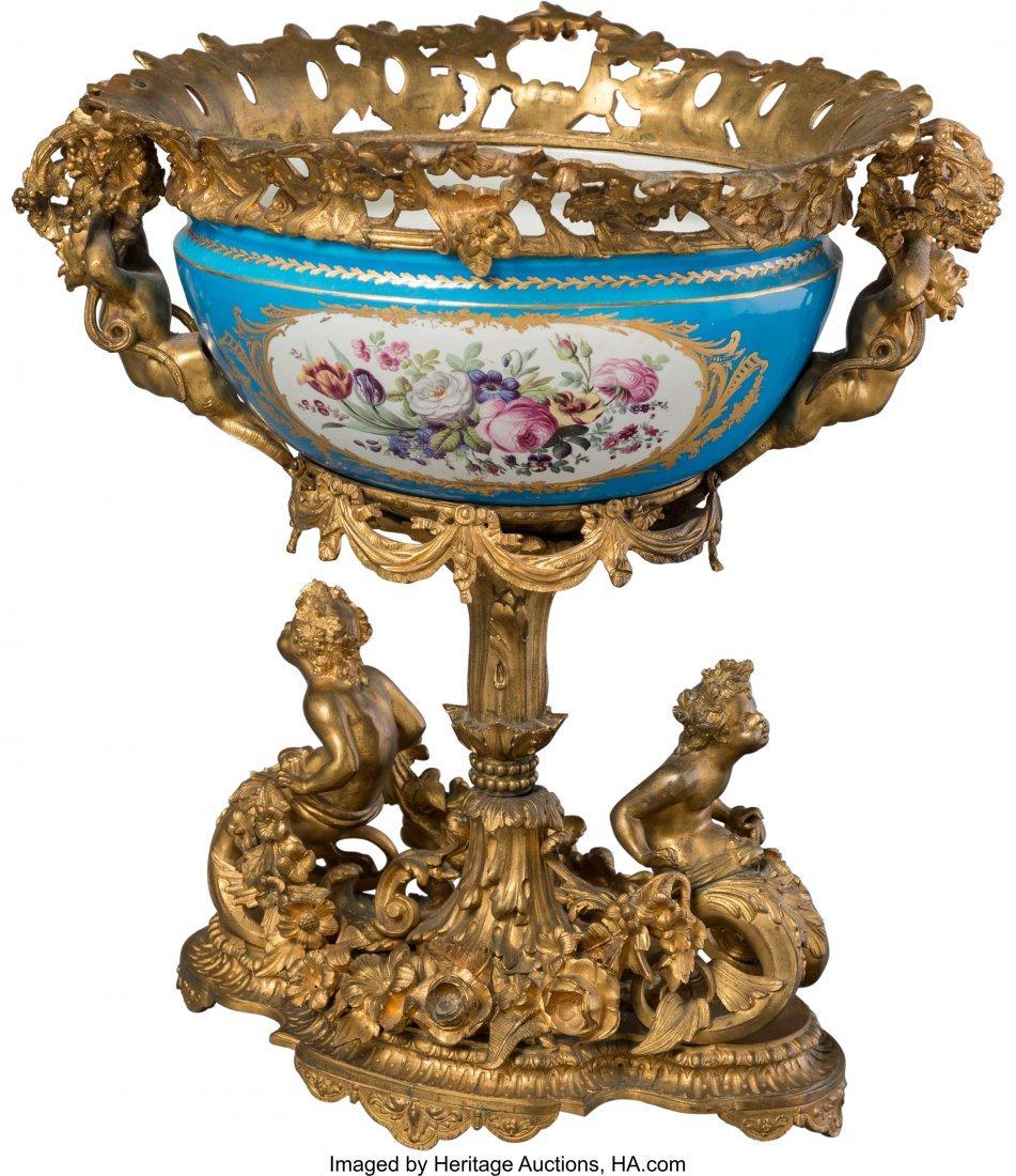 63535: A Sèvres-Style Porcelain Center Piece Bowl with - 2
