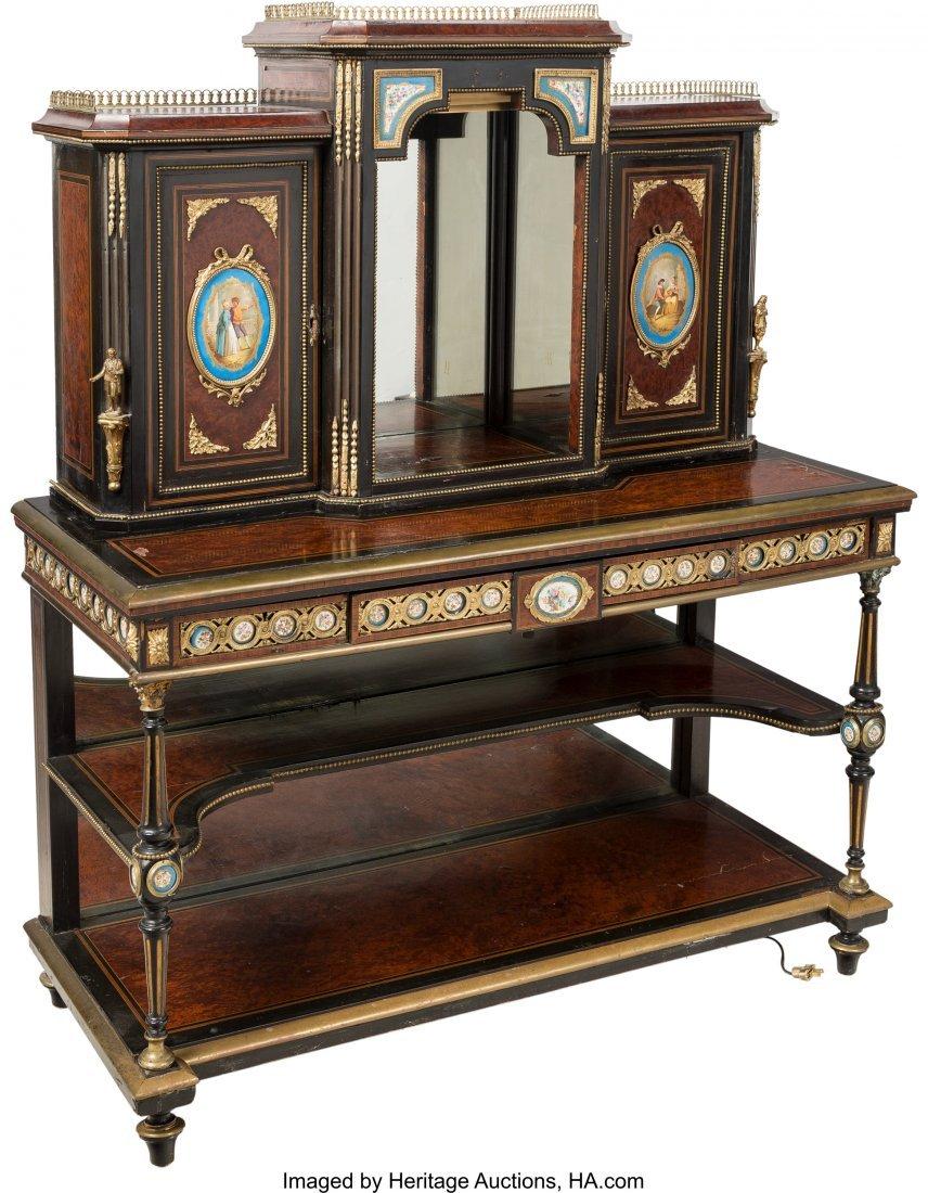 63483: A Napoleon III Sèvres-Style Porcelain and Gilt