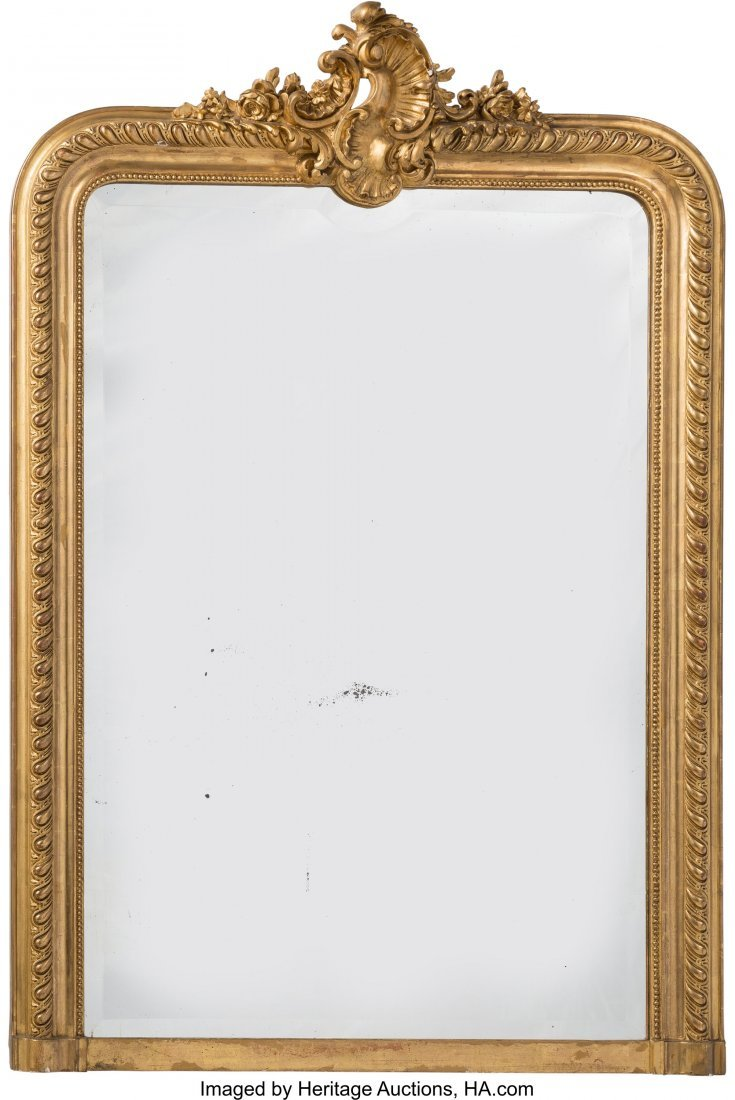 63537: A Louis XV-Style Giltwood Pier Mirror, late 19th