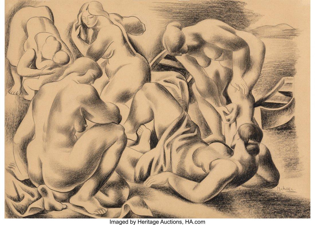 63649: Jan Matulka (American, 1890-1972) The Bathers, 1
