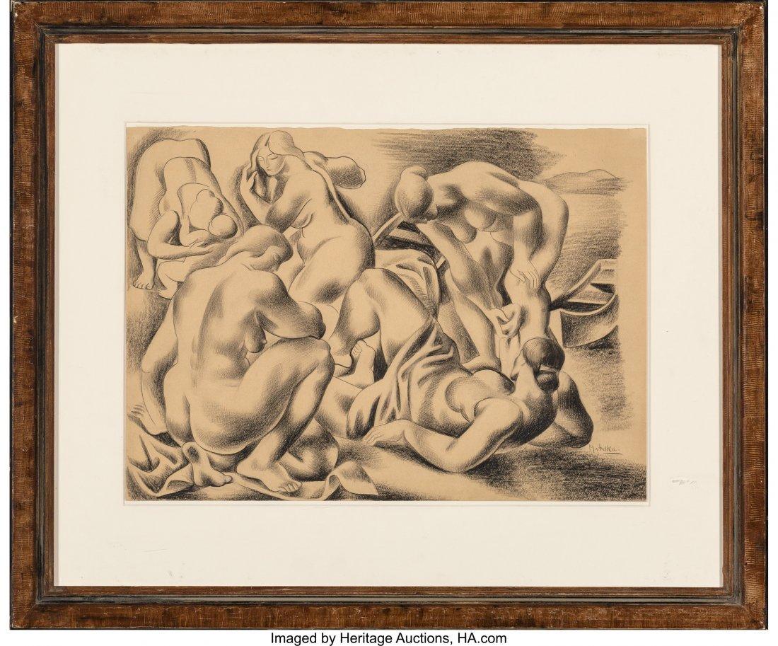 63649: Jan Matulka (American, 1890-1972) The Bathers, 1 - 2