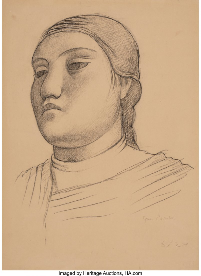 63652: Jean Charlot (French, 1898-1979) Head of a Woman