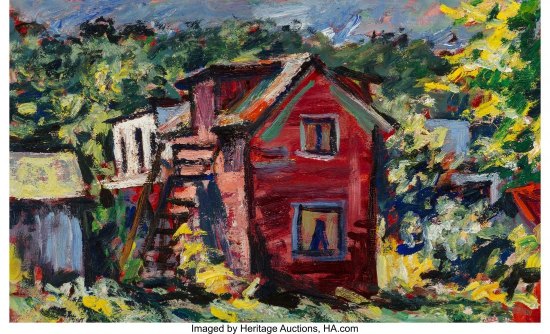63655: Dan Lutz (American, 1906-1978) The Red House Oil