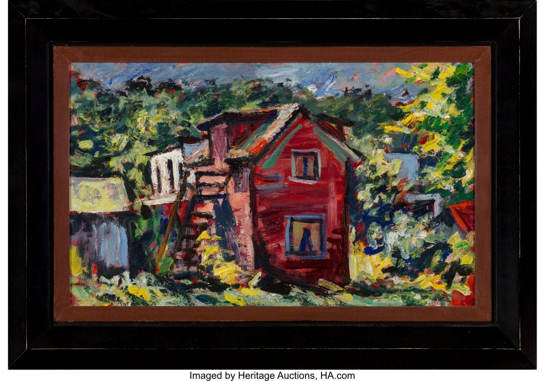 63655: Dan Lutz (American, 1906-1978) The Red House Oil - 2