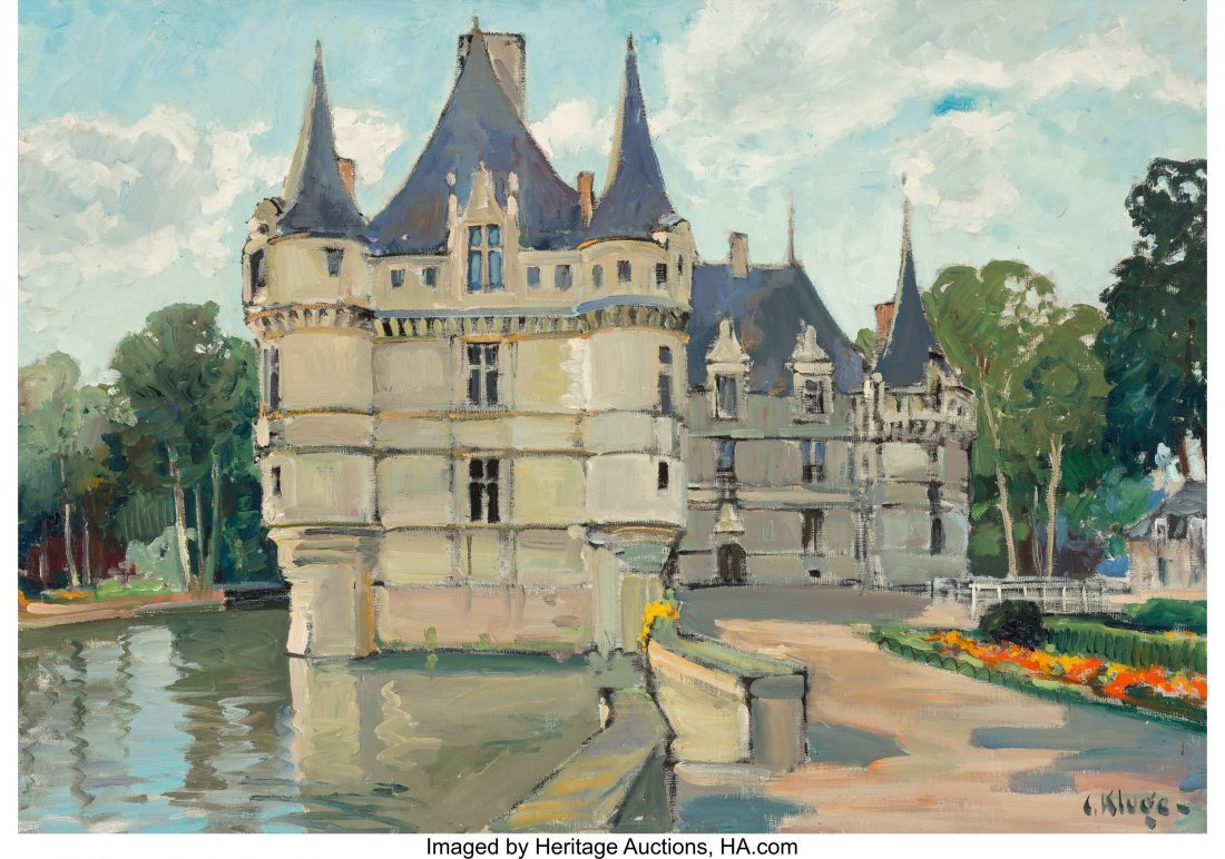 63664: Constantine Kluge (French, 1912-2003) Chateau Oi