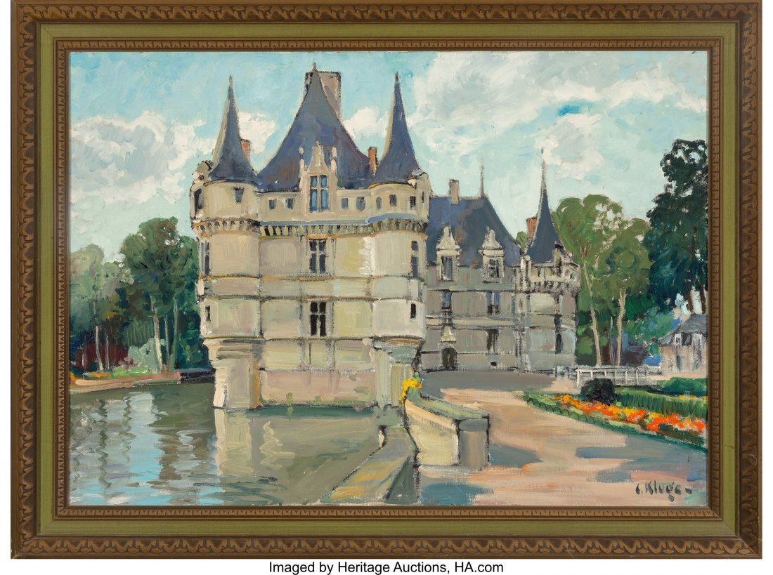 63664: Constantine Kluge (French, 1912-2003) Chateau Oi - 2