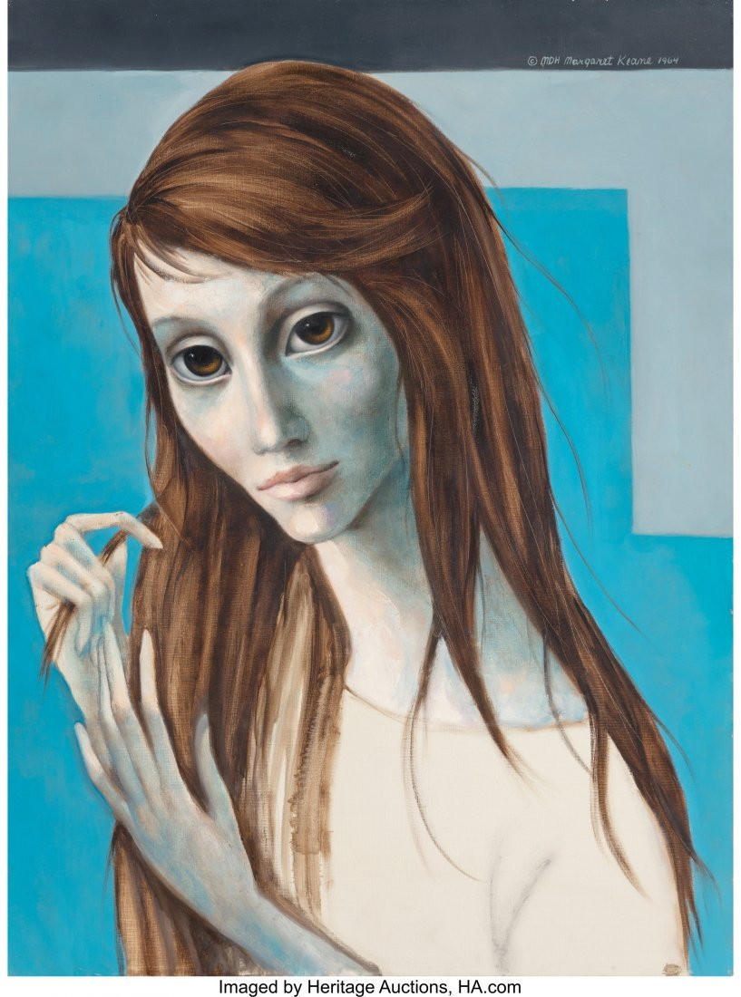 63754: Margaret Keane (American, b. 1927) Girl with Lon