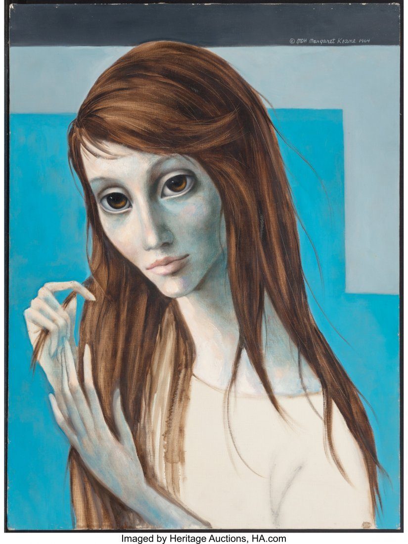 63754: Margaret Keane (American, b. 1927) Girl with Lon - 3