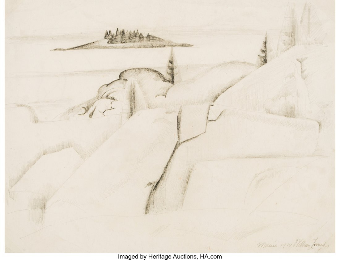 63786: William Zorach (American, 1887-1966) Stonington,