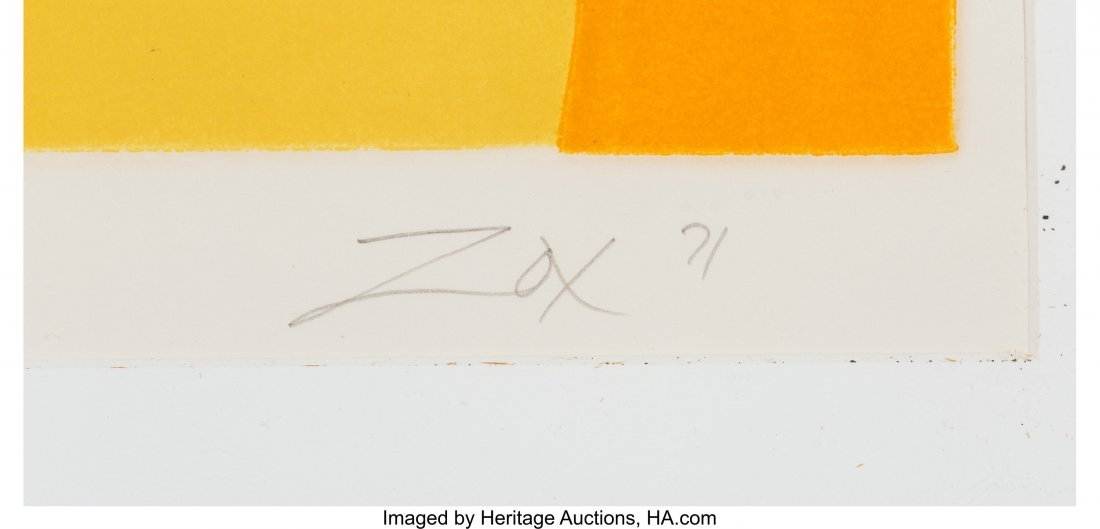 63888: Larry Zox (American, 1936-2006) Untitled, 1971 S - 3