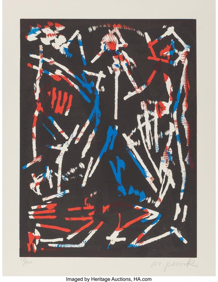 63894: A. R. Penck (1939-2017) Mul, Bul, Dang & Sentime