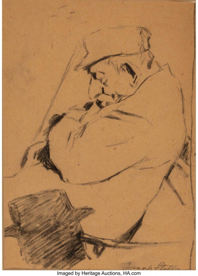 63808: Joseph Stella (American, 1877-1946) Sleeping Man