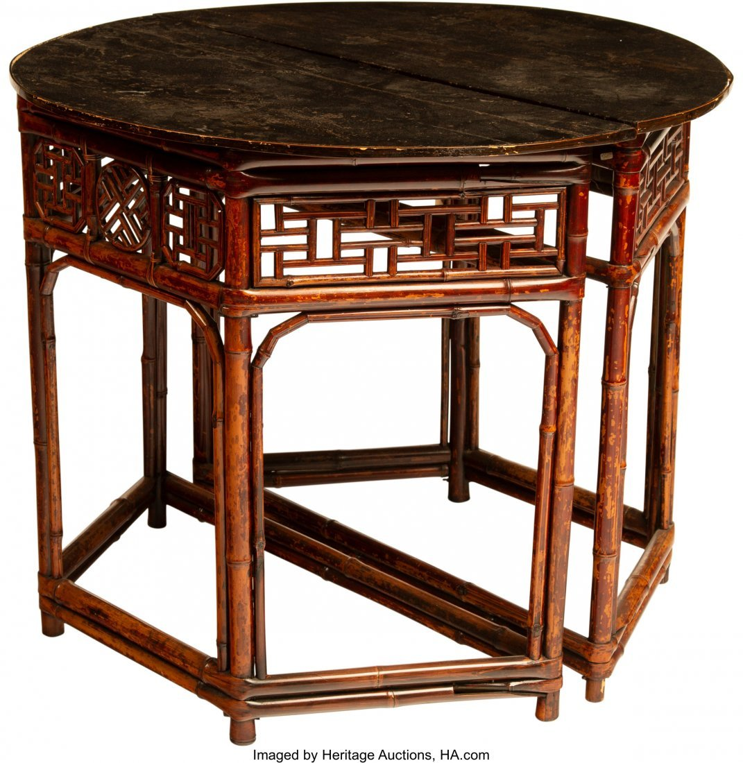 63957: A Pair of Japanese Console Tables, 20th century