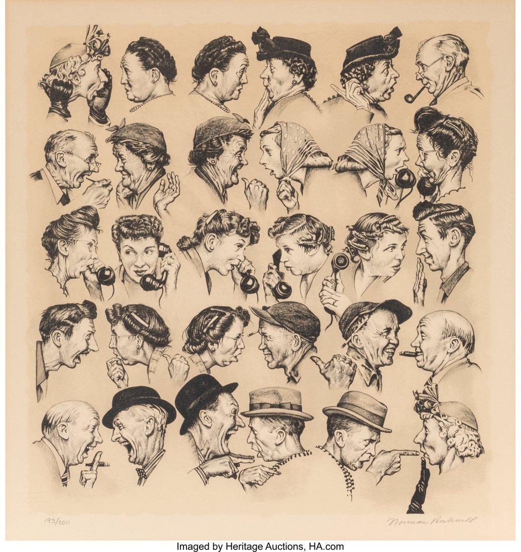63822: Norman Rockwell (American, 1894-1978) Gossips Li