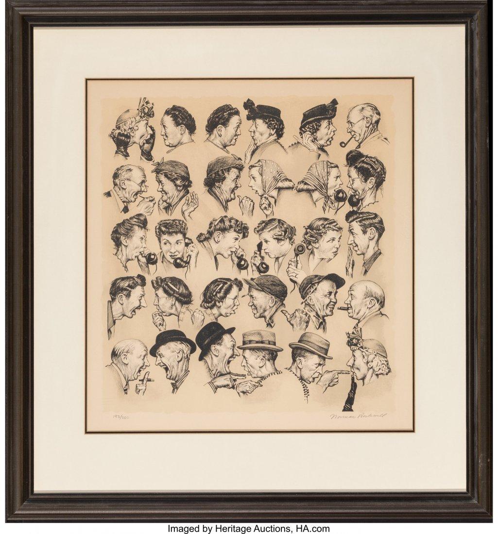 63822: Norman Rockwell (American, 1894-1978) Gossips Li - 2