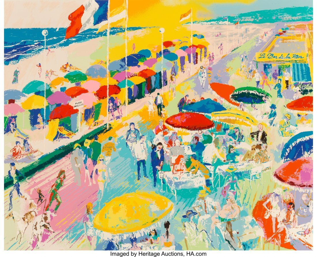 63829: LeRoy Neiman (American, 1921-2012) La Plage au D