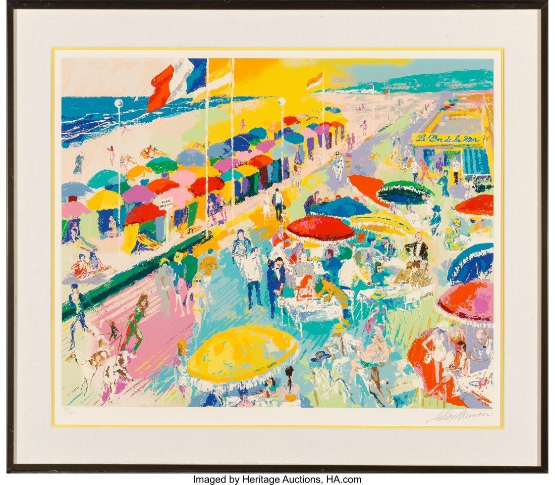 63829: LeRoy Neiman (American, 1921-2012) La Plage au D - 2
