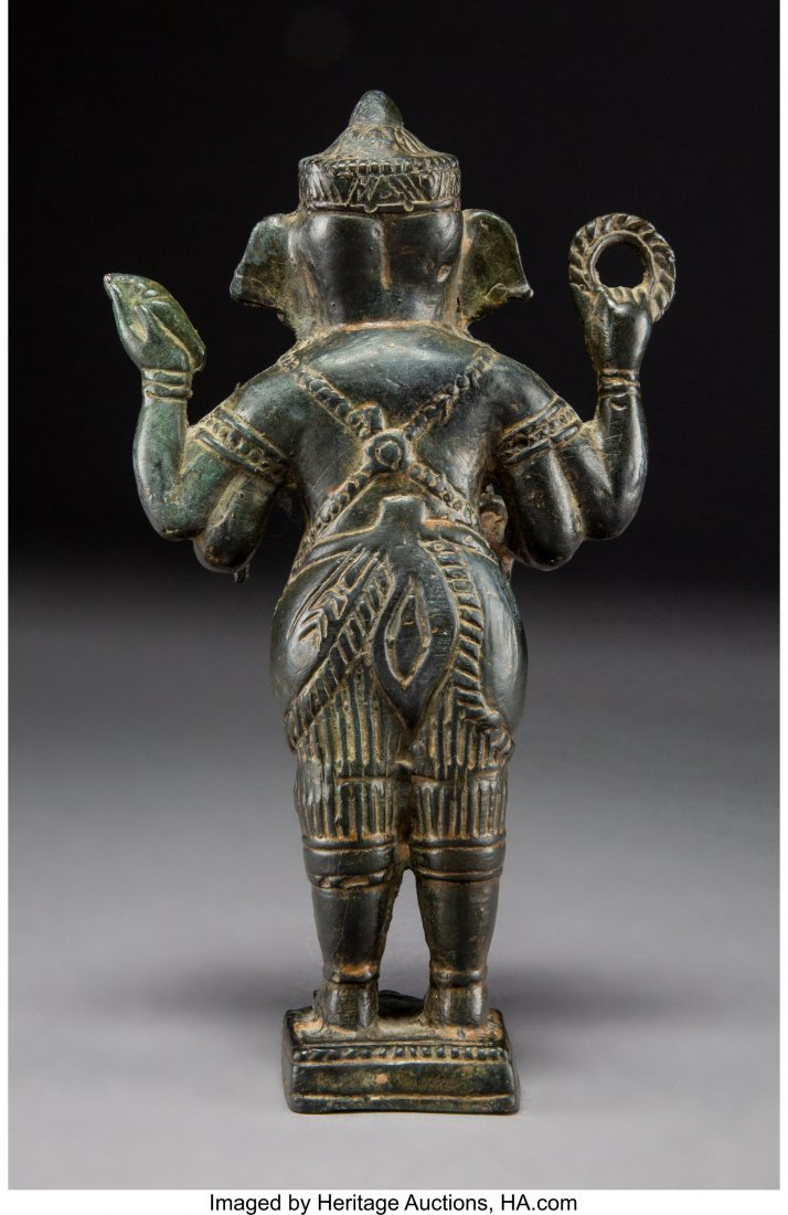 63972: A Sino-Indian Bronze Standing Figure of Ganesha  - 3