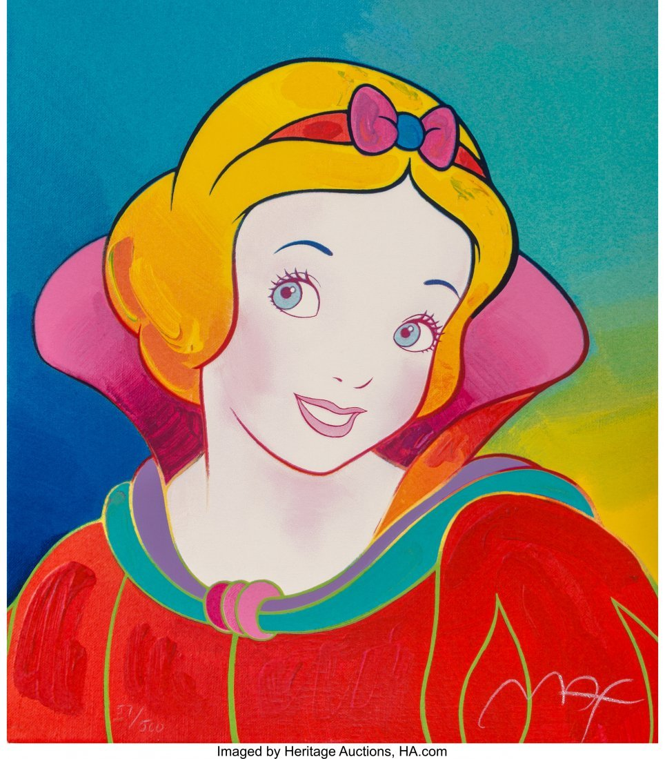 63931: Peter Max (American, b. 1937) Snow White (Red) S