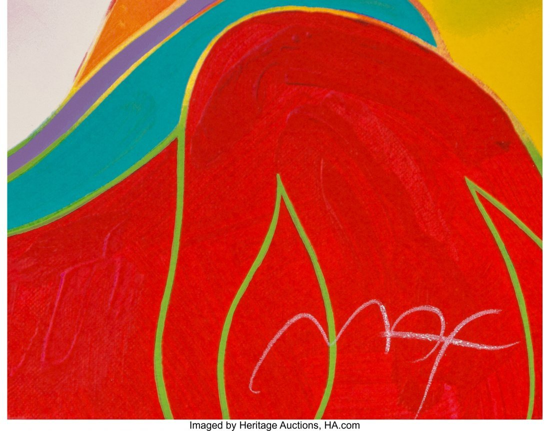 63931: Peter Max (American, b. 1937) Snow White (Red) S - 2